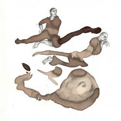 2007 dibujo ilustraciones hombres en la playa
