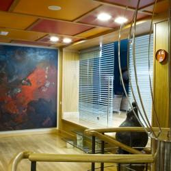 Obra en Hall de oficinas de Bodega Stratus